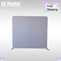 Wholesale 8ft Straight Blank Backdrop Wall Exhibition Booth Portable Tension Fabric Banner Advertising Display Stand With Plain White Fabric