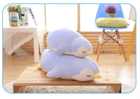 Wholesale Unisex Comforters - 2017NEWCute penguin plush soft toy pillow comforter pillow doll sofa pillow stuffed plush animals