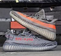 Wholesale Bag Dark Red - Gray Zebra Boost 350 V2 Bred Sply 350 V3 Sneakers Cream White Kanye west Training Shoes 13 colors (Keychain+Socks+Bag+Receipt+Boxes)