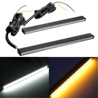 12V 2Pcs Universal 15LED Daytime Running Light DRL indicateur de signal lumineux blanc blanc Ambre