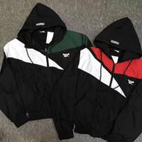 Wholesale Men S Hoody Jacket Coat - 2017 new spring summer vetements classic spell color Long sleeve windbreaker jacket men and women removable hoody sunscreen coat