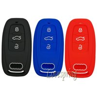 Wholesale Key Holder Remote - 3Buttons Remote Smart Key Fob Cover Case Protector Holder Skin Shell for Audi A3 A4 A5 A6 A7 S4 S5 Q5 S7 RS