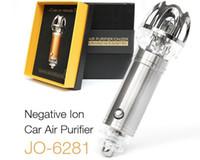 Wholesale Smoke Air Purifiers - diffuser Auto Air Purifier Oxygen Bar Lonizer Car Interior Decoration Freshener Remove Smoke air cleaner Purifier