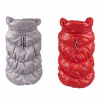 Wholesale dog down coat - Pet Clothes Puppy Outwear Costume For Winter Dog Warm Coat Down Jacket Vest Pet Puppy Clothes Apparel