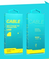 Wholesale Custom Usb Cables - Wholesale Custom Universal Packaging Paper Packaging for iPhone 6 6 Plus USB Cable for Display for Samsung Note3 Note5