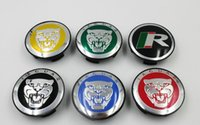 4pcs / lot 58mm para Jaguar XJ XF XK X-TYPE emblema do carro do logotipo Roda Center Hub Cap auto roda emblema tampa Auto Acessórios 6colors