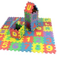 Wholesale Eva Play Mats - 36pcs Soft EVA Foam Baby Children Kids Play Educational Mat Alphabet Number Puzzle Blocks Jigsaw Free Shipping