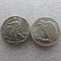 Wholesale Old Collectible - Wholesale United States Date 1921 - D 90% Silver Walking Liberty Half Dollars Nice Quality Colour: do old or new Copy Coins FREE SHIPPING