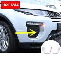 Wholesale Range Rover Light - ABS Front Fog Light Lamp Cover Trim For Land Rover Range Rover Evoque 2016 2pcs free shipping