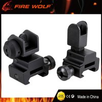 Wholesale Tactical Flip Up Sights - FIRE WOLF .223 Tactical Front Rear Flip Up Sights Combo Fits all Picatinny Rails free shipping