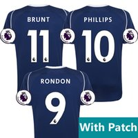 Wholesale Phillips Blue - West Bromwich Albion 17 18 home soccer jersey 2017 2018 BRUNT football shirt RONDON JAY PHILLIPS Camiseta MORRISON DAWSON WBA maillot foot