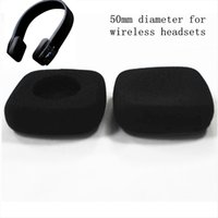 yastıklar için köpük dolgu toptan satış-4 adet 50mm köpük kulak pedi earpads kulak tıkaçları sünger pedleri kapak için 5 cm Jaybird kablosuz kulaklıklar