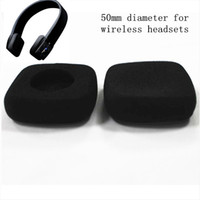 Wholesale Wireless Jaybird Headphones - 4pcs 50mm foam ear pad earpads headset ear cushions sponge pads cover 5cm for Jaybird wireless headphones