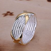 Wholesale Ring X Shape - Fashion Jewelry Silver Plated Rings for Women Cross Shape Wedding Bridal Jewelry,X Ring wedding Rings Size 6-10 anelli donna
