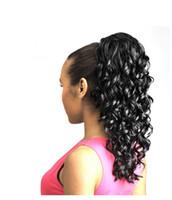 kızlar atkuyruğu saç uzantıları toptan satış-Xiu Zhi Mei Sıcak Satış! Kızlar için güzel bayan İpli midilli kuyruk saç uzantıları kinky kıvırcık İpli at kuyruğu hairpieces,