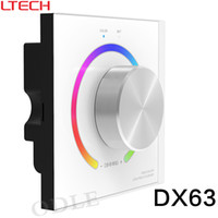 Wholesale Dmx Led Controller - DX63 LTECH rgb dmx 512 led controller console wall mounted knob panel + wireless RF 2.4g dmx512 controller + R4-5A R4-CC