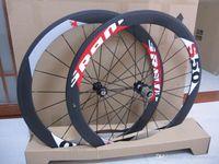 Wholesale Carbon Road Wheels Sram - EMS shipping SRAM S50 50mm rim tubular clincher Full Carbon 700C road bike wheels + spokes+ hubs A01