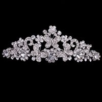 Wholesale Bridal Butterfly Headpieces - Cheap but High Quality Silver Rhinestone Butterfly Pageant Tiara Crown Bridal Hair Accessories Party Princess Queen Headpieces Free Shipping