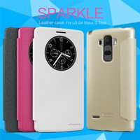 Wholesale nillkin case for lg - Originil NILLKIN Sparkle Series Flip Leather Case For LG G4 Stylus G Stylo With Retail Package