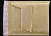 Wholesale Envelopes Bags Bubble - 120*160mm+4mm Packaging Shipping Bubble Mailers Padded Envelopes Bags Kraft Bubble Mailing Envelope Bags Free Shipping