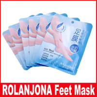 Wholesale rolanjona feet mask for sale - Group buy ROLANJONA Milk Bamboo Vinegar Foot Peeling Feet Mask Exfoliating Callus Remove Dead Skin Foot Mask Reduce Smell Rolanjona Feet Mask
