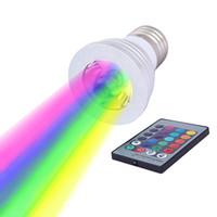 светодиодная лампа лампы светлый цвет меняется оптовых-3W Светодиодная RGB-лампа 16 Изменение цвета Светодиодные прожекторы Светодиодная лампа RGB Лампа E27 GU10 E14 MR16 GU5.3 с 24-клавишным пультом дистанционного управления 85-265В 12В