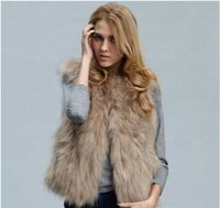 Wholesale Fur Coat Models - New fashion faux fur and short winter lady burst models like the fox fur coat vest