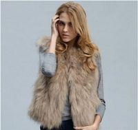 ingrosso short signore della pelliccia del faux-New fashion faux fur e short winter lady scoppiano modelli come il gilet di pelliccia di volpe