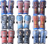 Wholesale 1 Pair Utility Competition Soccer Shin Guard Pads Shinguard Protector Outdoor Sports Cycling Professional football club Leg Safety Knee Pads