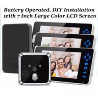 Wholesale Smart Peephole Viewer - TL-E701A Door Eye wireless video door peephole HOT with 3 monitors smart peephole viewer,digital door peephole AT