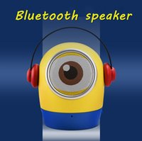 Wholesale Despicable Plug - Mini Cartoon Charater Bluetooth Speaker Despicable ME Portable Wireless handsfree Support TF Card FM USB 3.5mm Aux Plug For mobile phone PC