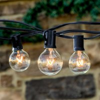 outdoor patio sets - 2 Ft Bulbs String Lights Clear Globe G40 Bulb String Light Set Indoor Outdoor Christmas Wedding Party Patio String Lights Umbrella Lamp