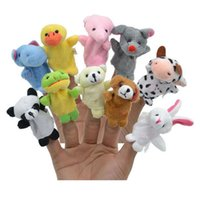 Wholesale Zodiac Hand Finger Puppets - 12pcs lot New arrive Plush toys hand Puppets Cartoon Animal Chinese Zodiac Hand Puppet Kids Gifts