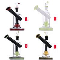 """Wholesale Option Mini - Bright Last Knight Glass Bongs 3color in 1 new percolator water pipe with 14mm matched bowl mini bubbler 8"""" have 4 option"""