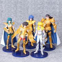 Wholesale Pegasus Figure - Anime Saint Seiya Myth Cloth Knights of the Zodiac Pegasus 5 PCS   Set 13 cm PVC Figures Dolls Toys