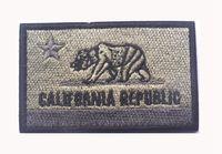 taktischen usa-flagge patch groihandel-Gestickte CALIFORNIA REPUBLIC State Patches USA State Flag Patch taktische 3D Abzeichen Stoff Flagge Armband Tuch Abzeichen geben Schiff frei