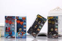 Wholesale Batman Earphones - 3.5mm IN-Ear Cartoon Headphone Earphones Earbuds With Mic Wired Iron Man Batman Superman Spiderman Fight Free Retail Package