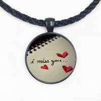 Wholesale Personalized Picture Jewelry - Wholesales Fashion Jewelry for women Penadant i miss you Pendant Personalized Picture Necklace
