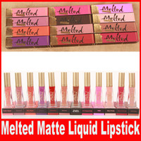 Wholesale wear lipstick for sale - Group buy New Brand Melted Makeup Faced Melted Lip Gloss Sexy Make Up Melted Matte Liquified Long Wear Matte Lipsticks Colors
