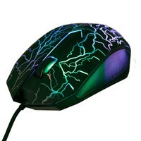 Wholesale usb mouse small - Wholesale- Small Special Shaped 3 Buttons USB Wired Luminous Gamer Computer Gaming Mouse