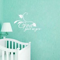 Dio ci ha dato È Quotes Wall Sticker arte del vinile murale per Baby Room Decor