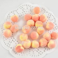 Wholesale artificial fruit for home decor - Wholesale-Free shipping Mini Artificial foam peach fruits vegetables for home decor photo props 2cm
