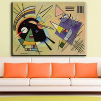 Wholesale paintings kandinsky - ZZ1176 Wassily Kandinsky painting abstract circle geometry classic art Home Decoration Canvas Poster Print for livingroom wall