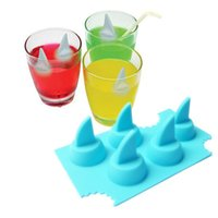 Wholesale Cool Fins - Drink Ice Tray Cool Shark Fin Shape Ice Cube Freeze Mold Ice Maker Mould 13.2*8.2*3.8cm