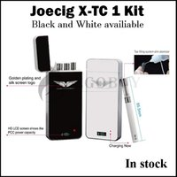 Wholesale Ego Lcd Case - Original JOECIG X-TC 1 Starter kit with PCC Case cbd Vaporizer HD LCD Screen Refillable Tank vs IQOS emili mini ego-aio pro D22
