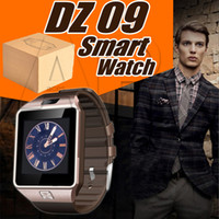 Wholesale intelligent remote - Smartwatch DZ09 Smart Watch Phone Camera SIM Card For Android IOS Phones Intelligent Mobile Phone Watches Can Record Sleep State