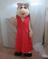 vizyon maskot kostümleri toptan satış-SX0724 Iyi görüş ve iyi Havalandırma özledim domuz maskot kostüm yetişkin domuz maskot kostüm