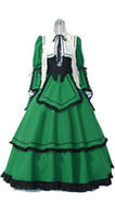 rozen maiden cosplay venda por atacado-Malidaike Anime Rozen Maiden Suiseiseki Logo Outfits Halloween Party Cosplay Dress Up