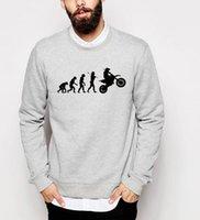 Wholesale Wholesale Motocross Clothing - Wholesale- Funny Evolution Motocross sweatshirts 2017 autumn casual hip-hop hoodies men harajuku o-neck fleece tracksuit top brand clothing