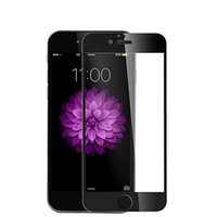 Wholesale Soft Glass Wholesale - Tempered Glass Screen Protector For iPhone 7 7 plus 9H Glossy Carbon Fiber Soft Edge Full Screen Film Anti Scratch 3D Curved